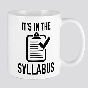 It's In The Syllabus Large Mugs