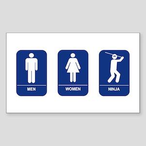 Ninja's Room Rectangle Sticker