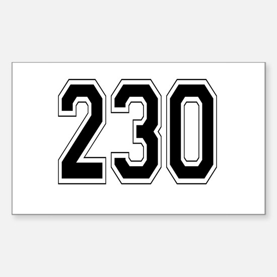 230 Rectangle Decal
