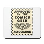 Comics Geek Association Mousepad