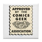 Comics Geek Association Tile Coaster