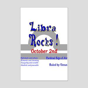 Libra October 2nd Mini Poster Print