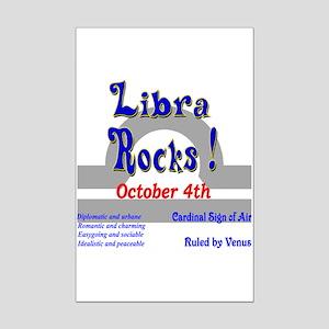 Libra October 4th Mini Poster Print