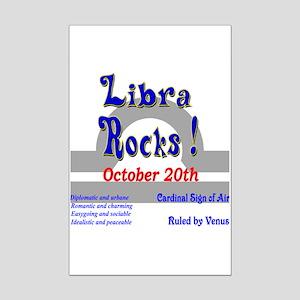 Libra October 20th Mini Poster Print