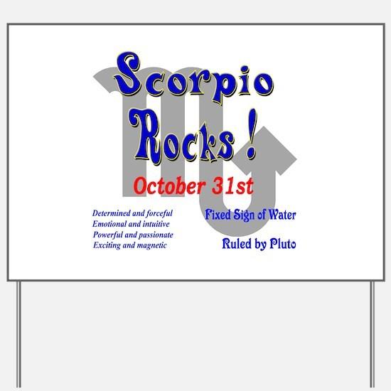 Scorpio October 31st Yard Sign
