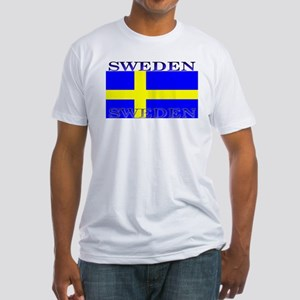 Sweden Swedish Flag Fitted T-Shirt