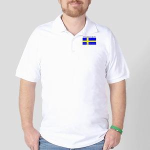 Sweden Swedish Flag Golf Shirt