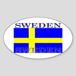 Sweden Swedish Flag Oval Sticker