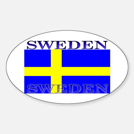 Sweden Swedish Flag Oval Decal