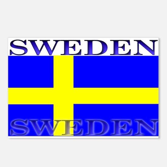 Sweden Swedish Flag Postcards (Package of 8)