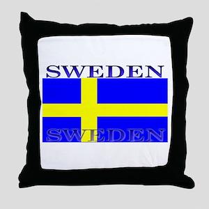 Sweden Swedish Flag Throw Pillow