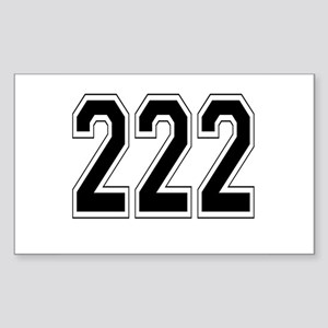 222 Rectangle Sticker