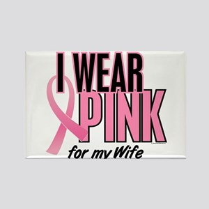 I Wear Pink For My Wife 10 Rectangle Magnet