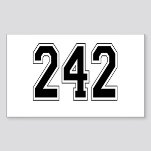 242 Rectangle Sticker