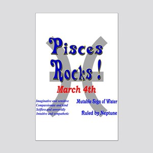 Pisces March 4 Mini Poster Print