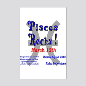 Pisces March 12th Mini Poster Print