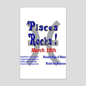 Pisces March 18th Mini Poster Print