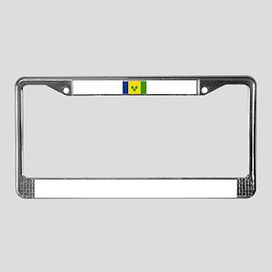 St Vincent & Grenadine License Plate Frame