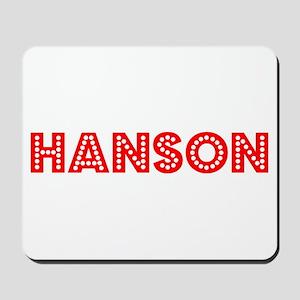 Retro Hanson (Red) Mousepad