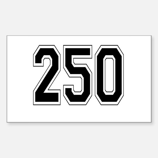 250 Rectangle Decal