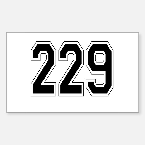 229 Rectangle Decal