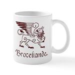 Broceliande mug - red