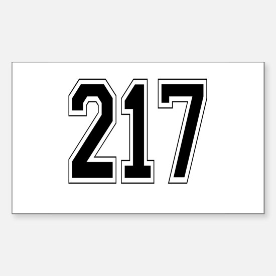 217 Rectangle Decal