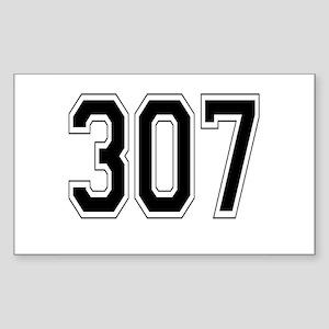 307 Rectangle Sticker
