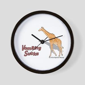 Vomiting Sucks Wall Clock