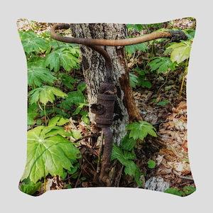 Forgotten Woven Throw Pillow