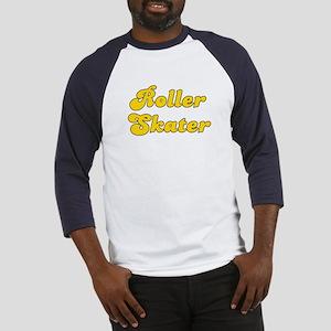 Retro Roller Skater (Gold) Baseball Jersey
