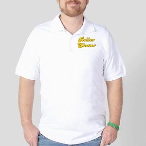 Retro Roller Skater (Gold) Golf Shirt