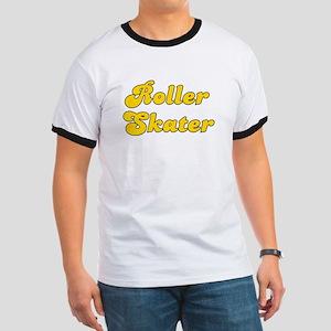 Retro Roller Skater (Gold) Ringer T