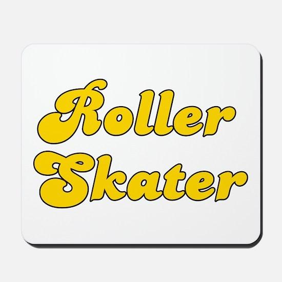 Retro Roller Skater (Gold) Mousepad