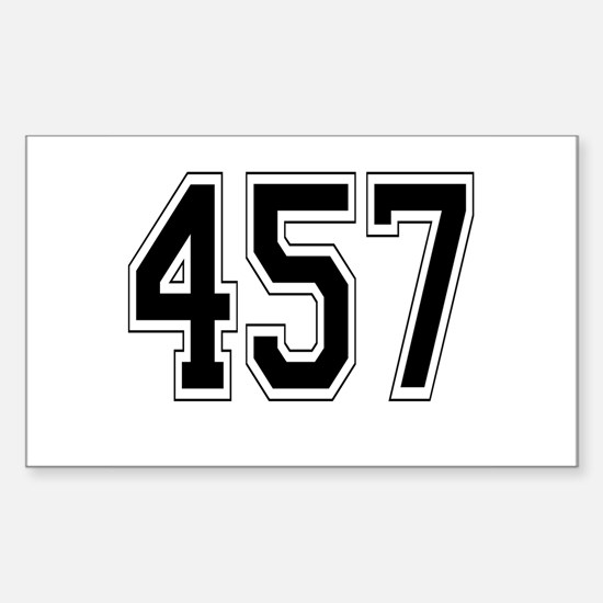 457 Rectangle Decal