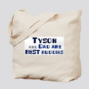 Tyson and dad Tote Bag