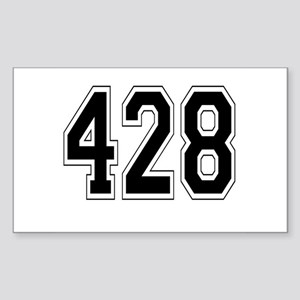 428 Rectangle Sticker