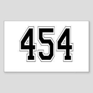 454 Rectangle Sticker
