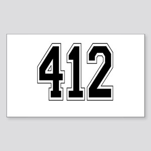 412 Rectangle Sticker