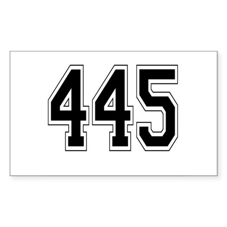445 Rectangle Sticker 50 pk)