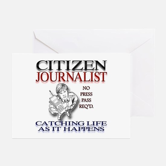 Citizen Journalist Greeting Cards (Pk of 10)