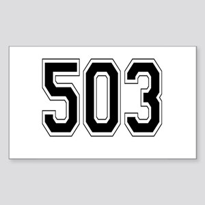 503 Rectangle Sticker