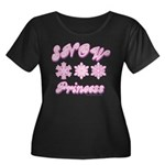 Snow Princes Women's Plus Size Scoop Neck Dark T-S