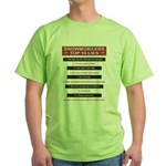 Snowmobilers Top Ten Lies Green T-Shirt