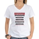 Snowmobilers Top Ten Lies Women's V-Neck T-Shirt