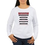 Snowmobilers Top Ten Lies Women's Long Sleeve T-Sh