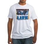 Snowmobiling is Life Live IT Fitted T-Shirt