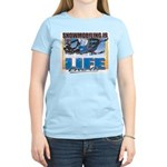 Snowmobiling is Life Live IT Women's Light T-Shirt