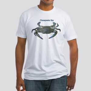 Chesapeake Bay Blue Crab Fitted T-Shirt