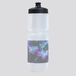 Two Purple Orchids Sports Bottle